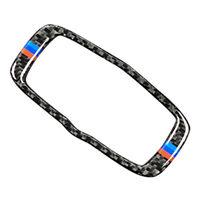 1x Carbon Fiber M-Color Headlight Switch Frame Sticker for BMW E60 E70 E71 X5 X6
