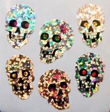 SKULLS Glittery Stickers - Sandylion Stickers - FREE SHIPPING OFFER