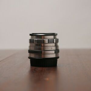 Petzval Helios modified lens 58 mm f/2 for Canon EOS EF mount Silver DECLICKED