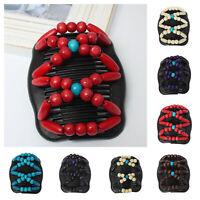Trend African Hairclip Haarklammer Butterfly Holzdesign Haarkamm Design