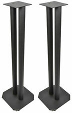 Universal Floor Speaker Stands Surround Sound Book Shelf Monitor Speakers Black