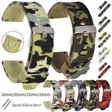 All 18 20 22 24mm Quick Release Silicone Camo Band For Various Smart Watch Strap