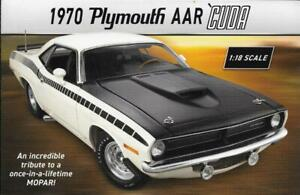 "2019 DANBURY MINT BROCHURE for NEW RELEASE 1:18 MOPAR ""1970 PLYMOUTH AAR 'CUDA"""