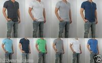 NWT Hollister Men Slim Fit Huntington & Tide Beach Henley Shirt By Abercrombie