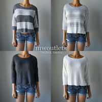 New Hollister Womens Hco Easy Fit Shaker Stitch Sweater Shirt