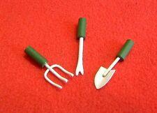 Dolls House Miniature Set of 3 Garden Tools