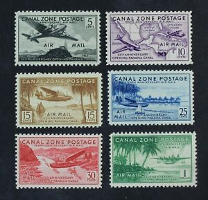 CKStamps: US Stamps Collection Canal Zone Scott#C15-C20 Mint NH OG