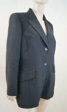 KENZO JUNGE Black Wool Cashmere Formal Lined Blazer Jacket FR44; UK16