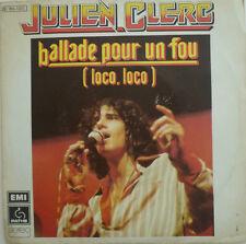 """7"""" 1975 French press! Julien CLERC ballade pour un fou"""