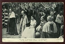 Royalty Coronation QUEEN ELIZABETH Prepares for the Anointing PPC
