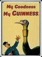 Guinness Ostrich miniature metal sign / postcard     (hi)