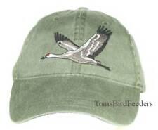 Sandhill Crane Embroidered Cotton Cap Bird Hat