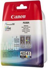 2 Canon Druckerpatronen Tinte PG-40 BK / CL-41 tri-color Multipack