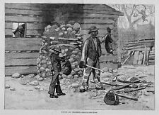 Negroes Opossum Hunting Wood-Pile Axe Possum For Supper