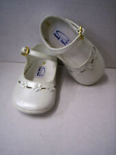 Shoes, Girl's Leather Prealized White With Flowers by Heavenly Fashion, Size 1