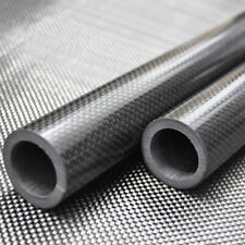 3K Roll Wrapped 35mm Carbon Fiber Tube 35mm x 25mm x 500mm Glossy for RC