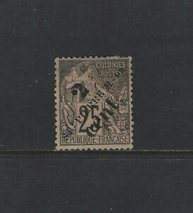 ST. PIERRE & MIQUELON - #41 - SURCHARGE USED STAMP (1892)