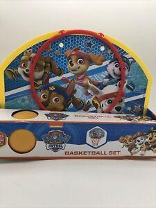 Paw Patrol Basketball Set Nickelodeon Includes Net Ball Hoop & Door Hanger New