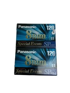 Panasonic 8MM Special Events 120 Camcorder Blank Video Tape Cassette 2-Pack NEW