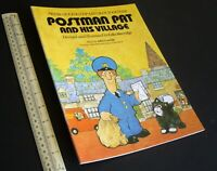 1985 Vintage Press-Out Model Book Postman Pat & His Village. From TV Series.