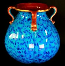 Antique Arts and Crafts French Sarreguemines Pottery Roman Vase Circa 1880