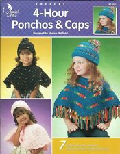 New listing New 4 Hour Ponchos & Caps For Children 7 Designs Crochet Pattern Book