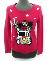By Design Womens Christmas Sweater Multi Color Design Long Sleeve Size S