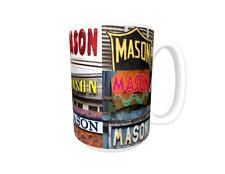 MASON Coffee Mug / Cup featuring the name in actual sign photos