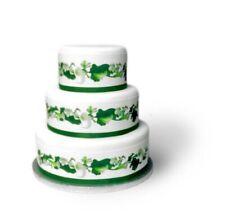 Blumen Weiß eßbar Torten-Band-Bordüre-Bild Party Deko Geburtstag Hochzeit neu