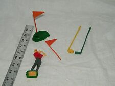 Vintage Golf Cake Decoration Green Putter Flag Golfer 18450
