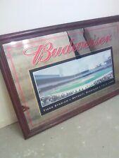 "Huge Rare Budweiser Detroit Tiger Stadium Mirror 59� x 39 1/2"" Great Condition"