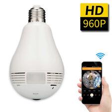 Hidden Camera 360 Degree Panoramic 960P HD Light Bulb Mini Home Security Camera