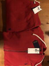 New Ralph Lauren Polo Sweat Suit Complete Suit Full Zip Hoodie Draw String Pants
