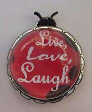 L Live love laugh inspirational Ladybug Message Figurine ganz miniature