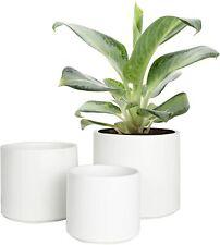 3pcs Ceramic Planters Succulent Pots Round House Garden 5/4/3 in Flower Pots