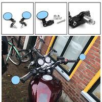 """2x Universal 7/8"""" Motorrad Lenkerendenspiegel Rückspiegel Aluminium Schwarz A3"""