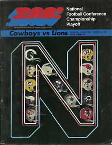1970 Dallas Cowboys v Detroit Lions NFC Playoff Football Program