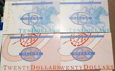 1995 Australian First Prefixes $10&$20 Notes AA95 006247 NPA FOLDERS Same Number