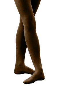 Women's Solid Colored Seamless Dance Costume Opaque Nylon Footed Tights Hosiery