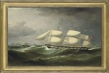 """perfact 36x24 oil painting handpainted on canvas """"a ship in the sea""""@N3099"""