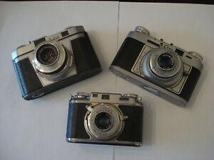 Three fantastic 35mm classic rare cameras, all working fine
