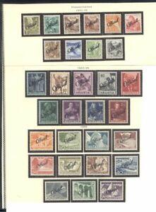 SWITZERLAND #O19-47 Mint - 1942-50 Officials ($79)