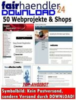 50 WEBPROJEKTE & ONLINESHOP + Photoshop PSD Website Templates MASTER RESELLER L.
