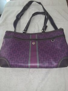 Coach Leather diaper bag with changing mat EUC