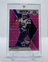 Tom Brady 2020 Panini Mosaic Fluorescent Pink Prizm /10 Rare SSP MVP Patriots