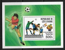 STAMPS-IVORY COAST. 1982. World Cup Football-Winners M/Sheet. Mi: Bloc 24. MNH