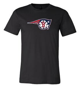 Boston Red Sox Patriots Celtics MASH UP logo shirt  S - 5XL!!! Fast Ship!