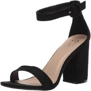 """Yoki Women's Shoes """"Friday"""" Fabric Open Toe Casual Ankle Strap Sandals"""