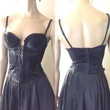 VTG Christian Dior Le Connaisseur Black Lace Embroidered Corset Bustier - 34 C
