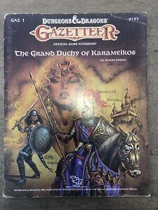 Dungeons And Dragons. Gazetteer. Grand Duchy Of Karameikos.
